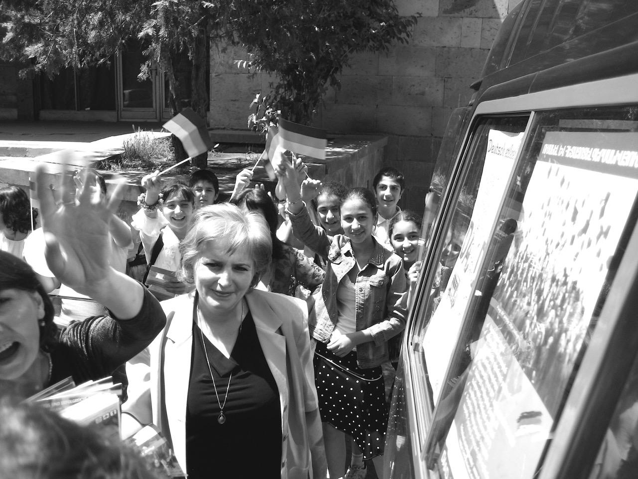 Foto: Auf Wiedersehen. Auf Wiedersehen. Aus: Eriwan. Kapitel 4. Aufzeichnungen aus Armenien von Marc Degens.