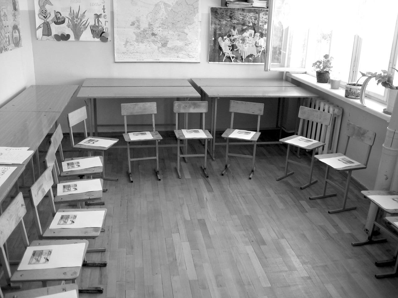 Foto: Klassenraum. Aus: Eriwan. Kapitel 4. Aufzeichnungen aus Armenien von Marc Degens.